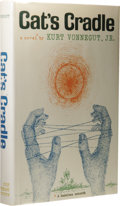 Books:First Editions, Kurt Vonnegut, Jr.: Cat's Cradle. (New York: Holt, Rinehartand Winston, 1963), first edition, 233 pages, three-quarter ...