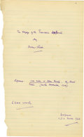 """Miscellaneous:Ephemera, Autograph Unpublished Manuscript """"The Voyage of theTrevessa's Boats"""" signed twice by the author """"OwenRutter"""", ..."""