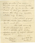 "Autographs:Non-American, Irish Patriot Daniel O'Connell Letter Signed L.S. ""DanielO'Connell"", 2pp., 7.25"" x 9"", Darrymore Abbey, Cahirciveen,Oc..."