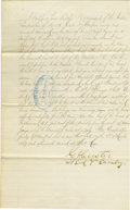 Autographs:Military Figures, Outstanding 1872 Signed Document by George A. Custer as Lt. Colonelof the 7th Cavalry Mentioning Indians and the Battle of Wa...