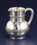 Silver Smalls:Other , An American Silver Water Pitcher. Tiffany & Co., New York, NewYork. 1875. Silver. Marks: TIFFANY & Co, 3077 MAKERS...