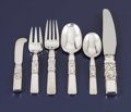 Silver Flatware, Continental:Flatware, A Danish Silver Flatware Service. . Georg Jensen Silversmithy,Copenhagen, Denmark. After 1945. Silver and stainless steel. ...(Total: 109 Items)