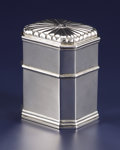 Silver Holloware, French:Holloware, A French Silver Tea Caddy. Unknown maker, French. Circa 1800-1820.Silver. Marks: IB under fleur-de-lis. 4.75 inches ...