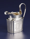 Silver Holloware, British:Holloware, A George III Silver Creamer. . Unknown maker, London, England. Circa 1790-1791. Silver. Marks: (lion passant), (leopard's h...