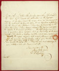"Autographs:Authors, David Lyndsay Autograph Letter Signed. June 26, 1825, 7.375"" x 9"", mounted on mat board between two pieces of glass revealin..."