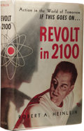Books:Signed Editions, Robert A. Heinlein: Signed Subscriber's Copy of Revolt in2100. (Chicago: Shasta Printers, 1953), first edition, 317pag...