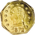 California Fractional Gold: , 1872 25C Washington Octagonal 25 Cents, BG-722, Low R.4, MS66 PCGS.A second and even finer example of this Frontier and Be...