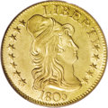 Early Half Eagles: , 1805 $5 MS64 PCGS. Close Date, Breen-6445, BD-2, R.4. Star 13 isfirmly embedded in the bust of Liberty. The 1 in the date ...