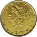 California Fractional Gold: , 1870 25C Liberty Round 25 Cents, BG-836, High R.7, MS61 NGC. Anextremely rare variety. The second edition of Breen-Gillio ...
