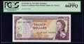 East Caribbean States Currency Authority, St. Vincent 20 Dollars ND (1965) Pick 15o PCGS Gem New 66PPQ