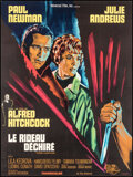 """Movie Posters:Hitchcock, Torn Curtain (Universal, 1966). Very Fine on Linen. French Grande (46"""" X 61.5""""). Hitchcock.. ..."""