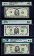 Small Size:Federal Reserve Notes, Fr. 1969-K*; L (2) $5 1969 Federal Reserve Notes. PMG Graded Gem Uncirculated 66 EPQ; Superb Gem Unc 67 EPQ; Gem Uncirculated ... (Total: 3 notes)