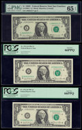$1 and $2 Federal Reserve Notes Eleven Examples PMG Graded Except Where Stated. ... (Total: 11 notes)