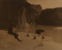 Edward Sheriff Curtis (American, 1868-1952) At the Old Well at Acoma, circa 1904 Orotone 11 x 14 inches (27.9 x 35.6