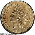 Proof Indian Cents: , 1867 PR 66 Cameo PCGS. ...