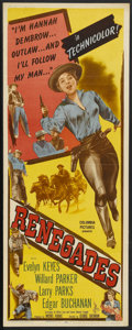 "Movie Posters:Western, Renegades (Columbia, 1946). Insert (14"" X 36""). Western...."