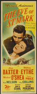 "Movie Posters:War, The Eve of St. Mark (20th Century Fox, 1944). Insert (14"" X 36"").War...."