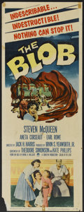 "Movie Posters:Science Fiction, The Blob (Paramount, 1958). Insert (14"" X 36""). Science Fiction...."