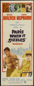 "Movie Posters:Romance, Paris When it Sizzles (Paramount, 1964). Insert (14"" X 36""). Romance...."