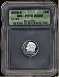 Proof Roosevelt Dimes: , 2002-S Silver PR 70 Deep Cameo ICG. ...