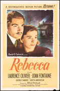 """Movie Posters:Hitchcock, Rebecca (United Artists, R-1946). Folded, Fine. One Sheet (27"""" X 41""""). Hitchcock.. ..."""