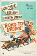 """Movie Posters:Comedy, Road to Utopia (Paramount, 1946). Folded, Fine. One Sheet (27"""" X 41""""). Comedy.. ..."""