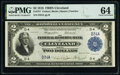 Large Size:Federal Reserve Bank Notes, Low Serial Number D34A Fr. 757 $2 1918 Federal Reserve Bank Note PMG Choice Uncirculated 64.. ...