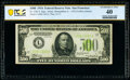 Fr. 2201-L $500 1934 Light Green Seal Federal Reserve Note. PCGS Banknote Extremely Fine 40
