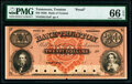 Obsoletes By State:Tennessee, Trenton, TN- Bank of Trenton $20 18__ G12a Garland 1250 Proof PMG Gem Uncirculated 66 EPQ.. ...
