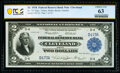 Large Size:Federal Reserve Bank Notes, Low Serial Number D473A Fr. 757 $2 1918 Federal Reserve Bank Note PCGS Banknote Choice Unc 63.. ...