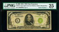 Serial Number 1 Fr. 2211-L $1,000 1934 Light Green Seal Federal Reserve Note. PMG Very Fine 25