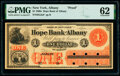 Obsoletes By State:New York, Albany, NY- Hope Bank of Albany $1 186_ as G2a Proof PMG Uncirculated 62.. ...