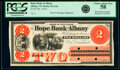 Obsoletes By State:New York, Albany, NY- Hope Bank of Albany $2 186_ as G4a Proof PCGS Choice About New 58.. ...