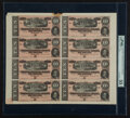 T68 $10 1864 PF-44 Cr. 552 Uncut Sheet of Eight PMG About Uncirculated 55 Net