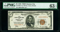 Fr. 1850-J* $5 1929 Federal Reserve Bank Star Note. PMG Choice Uncirculated 63 EPQ