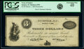 Sumter, SC- Town of Sumter $3 Mar. 1, 1866 Remainder Sheheen 1094 PCGS Extremely Fine 40