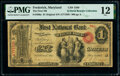Frederick, MD - $1 Original Fr. 380a The First National Bank Ch. # 1589 PMG Fine 12