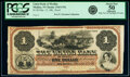 Medina, NY- Union Bank of Medina $1 Mar. 15, 186_ as G2a Proof PCGS Apparent About New 50