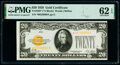 Small Size:Gold Certificates, Fr. 2402* $20 1928 Gold Certificate Star. PMG Uncirculated 62 EPQ.. ...