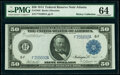 Fr. 1046 $50 1914 Federal Reserve Note PMG Choice Uncirculated 64