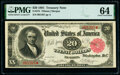 Large Size:Treasury Notes, Fr. 375 $20 1891 Treasury Note PMG Choice Uncirculated 64.. ...