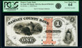 Obsoletes By State:Minnesota, St. Paul, MN- Ramsey County Bank $1 Dec. 1, 1858 G2a Hewitt B700-D1b Proof PCGS Very Choice New 64.. ...