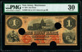 Obsoletes By State:New Jersey, Morristown, NJ- Iron Bank $1 Mar. 20, 1858 as G36a Wait 1201 PMG Very Fine 30, COC.. ...