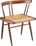 Furniture, George Nakashima (American, 1905-1990). Grass-Seated Chair, designed 1940. Walnut, grass. 26-1/2 x 24 x 19 inches (67.3 ...