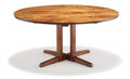 Furniture, George Nakashima (American, 1905-1990). Round Cluster Base Dining Table, 1964. Walnut. Inscribed Holtzman to undersi...