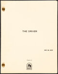 """Movie Posters:Action, The Driver by Walter Hill (20th Century Fox, 1978). Very Fine. Final Draft Script (111 Pages, 8.5"""" X 11""""). Action.. ..."""