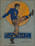 Works on Paper, Margaretta Mason Kingsbury (American, 19th Century). Football, 1910. Pastel and pencil on paper. 24 x 17-3/4 inches (61....