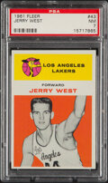 Basketball Cards:Singles (1980-Now), 1961 Fleer Jerry West #43 PSA NM 7....
