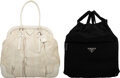 Luxury Accessories:Bags, Prada Set of Two: Frame Bag and Nylon Drawstring Bag. Condition: 2. See Extended Condition Report f...