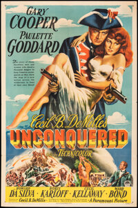 """Unconquered (Paramount, 1947). Folded, Fine/Very Fine. One Sheet (27"""" X 41""""). Adventure"""